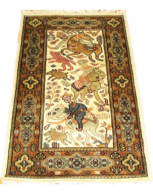 Vanilla The Hunt Kashmiri Carpet KCE13