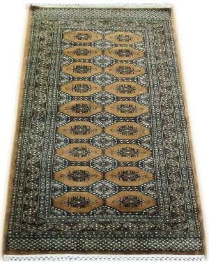 Beige Bokhara Kashmiri Carpet KCE20