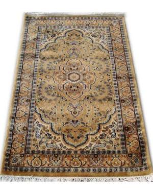Gold Afshar Kashmiri Carpet KCE26