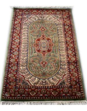 Fern Green Tabrez Kashmiri Carpet KCE29