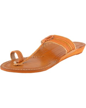 Handmade Leather Sandals - Typical Kolhapuri Chappal for Women KCF24