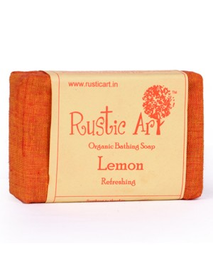 Rustic Art Organic Lemon Soap RA16 (Pack of 2)