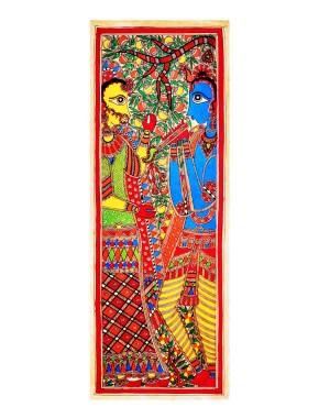 Radha & Krishna Blue Painting
