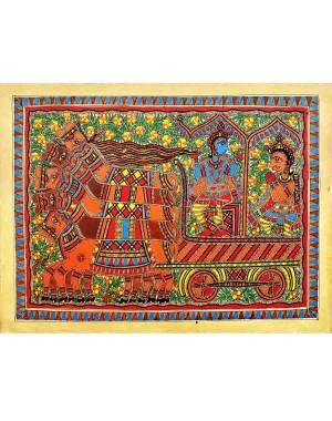 Krishna-Arjun Mahabharat Theme Painting