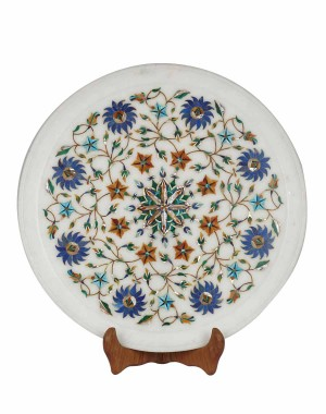 Marble Inlay Work Decorative Plate HH156