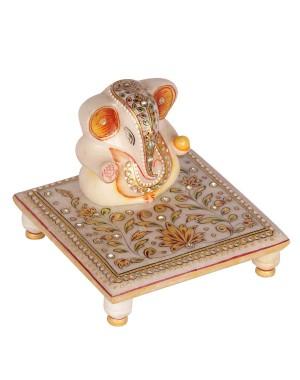 Marble Ganesh Chowki HH191