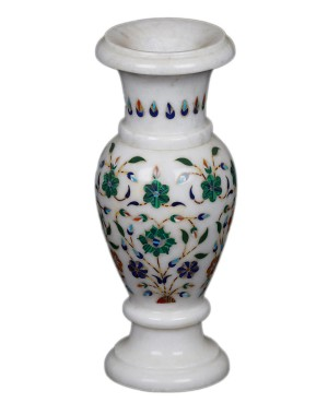 Marble Inlay Work Flower Pot KS338