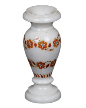 Marble Inlay Work Flower Pot KS339