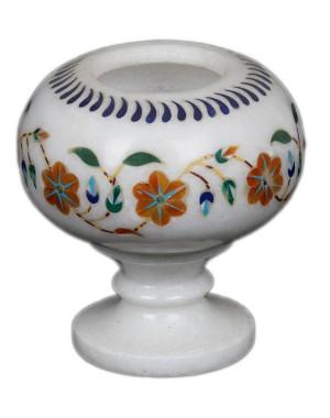 Marble Inlay Work Flower Pot KS344