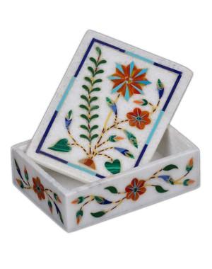 Marble Inlay Dry Fruit Box KS352