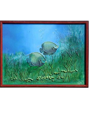 Two Fish Mud Work Painting