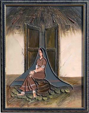 Kutchi Lady At Door Steps RK57