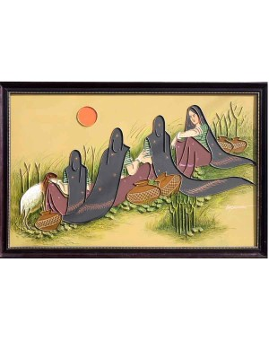 Four Ladies With Pots And Sheep RK68