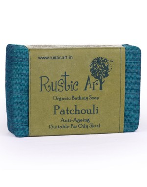 Rustic Art Organic Patchouli Soap (Anti Ageing) RA20 (Pack of 2)