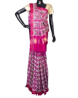 Pink Color Chanda Bhat Patola Saree