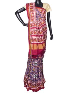 Purple With Multi Color Voragajji Patola Saree