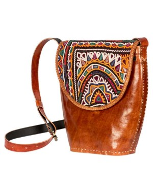 Megha Arts & Crafts Pure Leather Bag MAC37