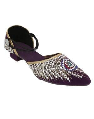 Rajasthani Peacock Crystal Pakiza Sandal HFC030