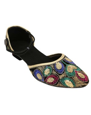 Rajasthani Peacock Feather Pakiza Sandal HFC046
