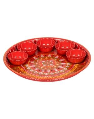 Shree Collection Pooja Dish(Oil Paint Work) SC 29