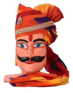 Rajasthani Shaded Safa With Brooch MS13