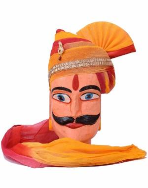 Rajasthani Shaded Safa With Brooch MS14