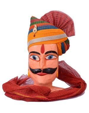 Rajasthani Pachrangi Zari Kota Doriya Safa MS19