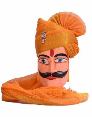 Rajasthani Orange Zari Kota Doriya Safa MS24