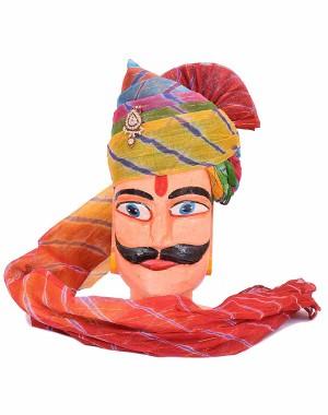 Rajasthani Zari Taar Laheriya Pachrangi Safa MS30