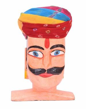 Rajasthani Pachrangi Laheriya With Chunri Palla Safa MS36