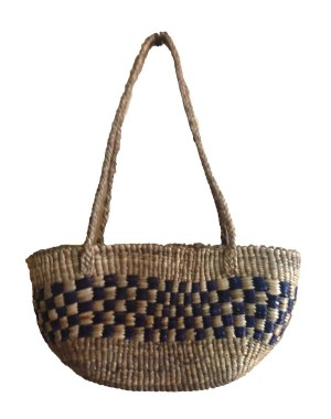 Brown Oval Large Water Hyacinth Bag