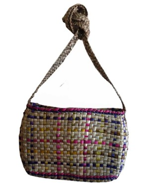 Brown Complete Mat Square Water Hyacinth Bag