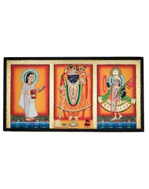 Teen Nidhiji Kesari Dhara Chowkta Shrinathji KS31