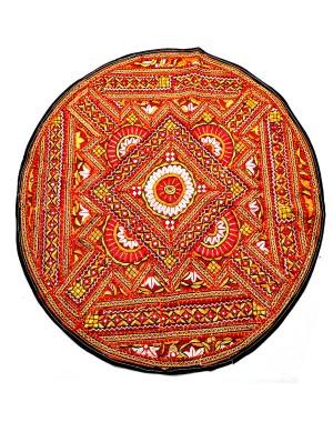 Kutch Qasab Paka Work Round Table Mat KQ35
