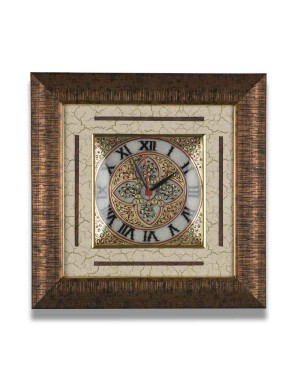 Square Shape Marble Wall Clock AAG15