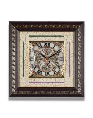 Meenakari Work Marble Wall Clock AAG25