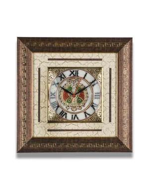 Meenakari Work Marble Wall Clock AAG27