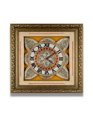 Meenakari Work Marble Wall Clock AAG30
