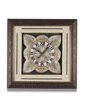 Flower Shape Marble Wall Clock AAG39