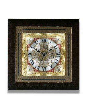 Square Shape Marble Wall Clock AAG40