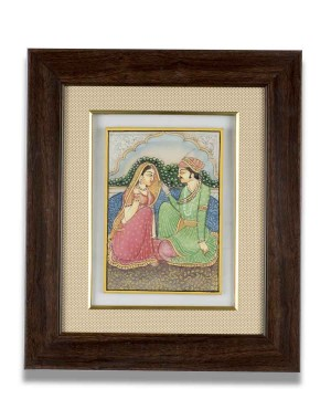 Shahjahan-Mumtaj Marble Frame AAG48