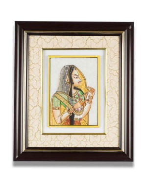 Lady Figure Marble Frame AAG50