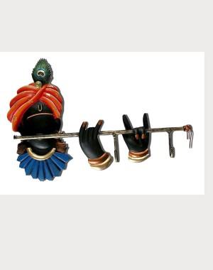 Iron Handicrafts Key Hanger With Krishna IH159