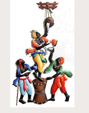 Iron Handicrafts Krishna Wall Hanging IH163