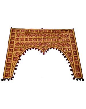 Kutch Qasab Five Mirror Door Gate Wall Hanging KQ49