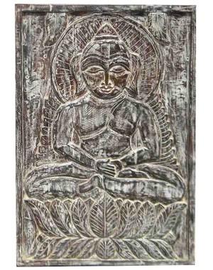 Wood Carved Buddha Pannel HAE01