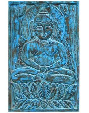 Wood Carved Buddha Pannel HAE02