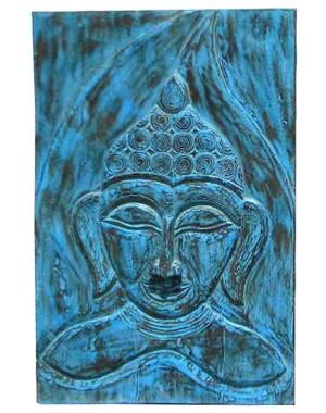 Wood Carved Buddha Pannel HAE03