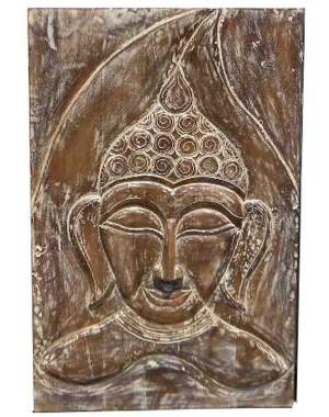 Wood Carved Buddha Pannel HAE04