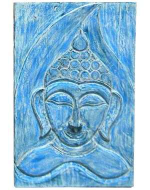 Wood Carved Buddha Pannel HAE05